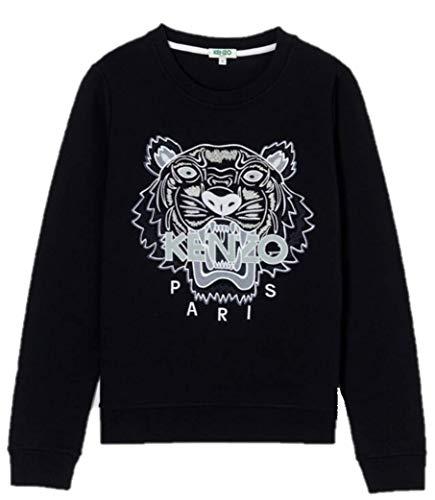 Kenzo Sweatshirt Tiger 4X12SW705K09P18599 Pullover Schwarz Weiß Tiger Gr. 38, Schwarz