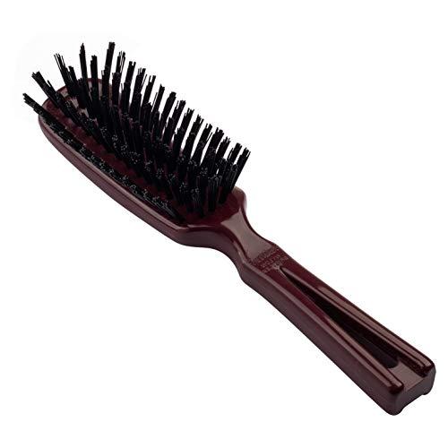 Stanley Home Products Commander for Her Hairbrush Wet & Dry Brush w/Nylon Bristle For Detangling & Straightening Natural Hair - Scalp Massage or Light Brushing - Mulberry