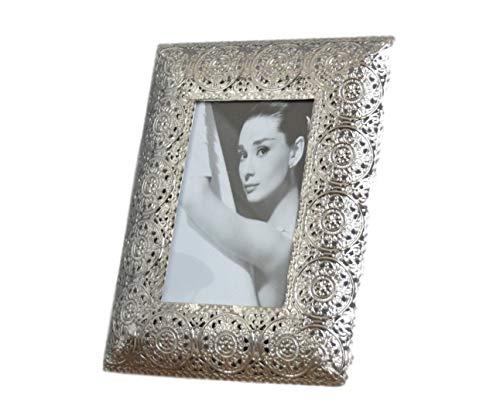 elbmöbel.de Cornice portafoto, Metallo, argento, 1