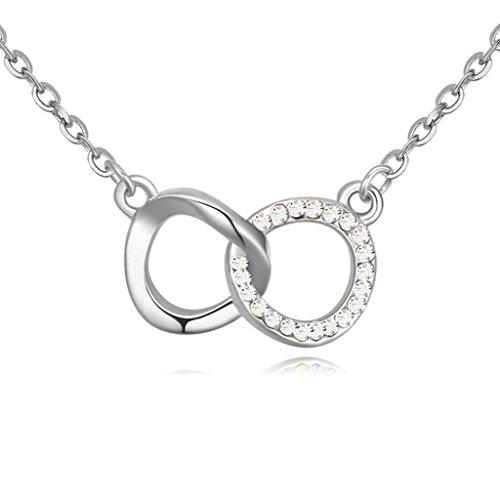 Daesar Schmuck Damenkette Vergoldet Träne Herz Halsketten Zirkonia Anhänger Halskette für Frauen
