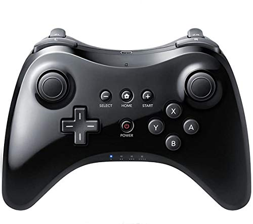 [2021 Upgraded Version] Wii U Pro Controller Wireless Controller Gamepad Bluetooth Game Controller Joystick for Nintendo Wii U with USB Charging Cable (Black)
