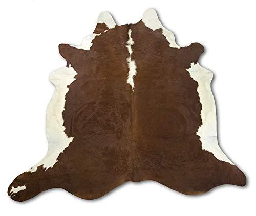 Zerimar Alfombra Piel de Vaca Natural Premium   Medidas: 220x210 cm 3.26 m²   Alfombra Salón   Alfombra Decoracion   Alfombra Dormitorio   Alfombra Vaca   Alfombra Pasillo