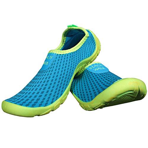 Ultrapower Aquaschuhe Wasserschuhe Kinder | Neopren Badeschuhe für Jungs Mädchen I Baden Schuhe I UV Strandschuhe geschlossen I Wassersportschuhe I Schwimmschuhe weich I Gr. 28/UK 10,Blau