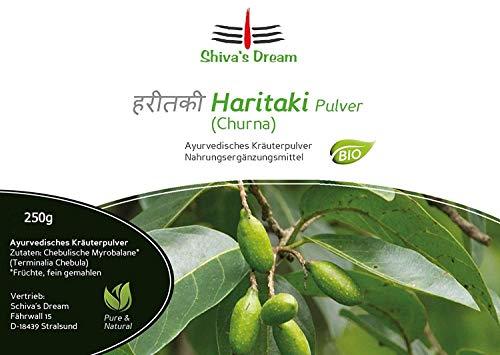 Haritaki Pulver fein vermahlen | 250g | geprüfte Qualität aus Indien | Shiva's Dream | alle 3 Doshas im Gleichgewicht