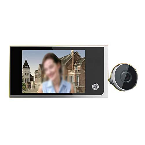 household items Timbre de Video inalámbrico, cámara de Alta definición 120 ° Seguridad de Gran Angular Timbre Inteligente Detección de Movimiento Video en Tiempo Real, Negro