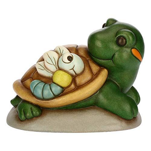 THUN ® - Coppia Tartaruga e Libellula Media - Ceramica - h 13,5 cm - Linea I Classici