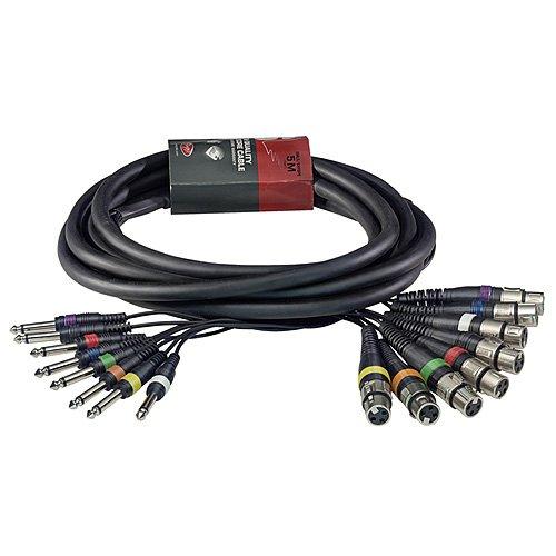 Stagg 25018276 SML5/8XF8P E Multicore Kabel (5 m, 8 XLRf auf 8 Plug)
