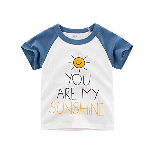 Kinderen Kinderen T-shirt met korte mouwen Jongens en Meisjes - Gedrukt patroon eenvoudige stijl - U bent mijn zon - Beste cadeau voor 3-8 Jaren kinderen