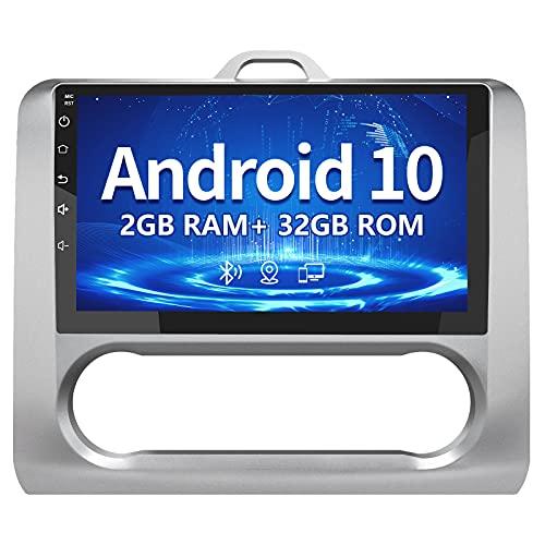 AWESAFE Android 10.0 [2GB+32GB] Radio Coche para Ford Focus Mk2 2004-2011 con 9 Pulgadas Pantalla Táctil , Autoradio con Bluetooth/GPS/FM/RDS/USB/RCA, Apoyo Mandos Volante, Aparcamiento
