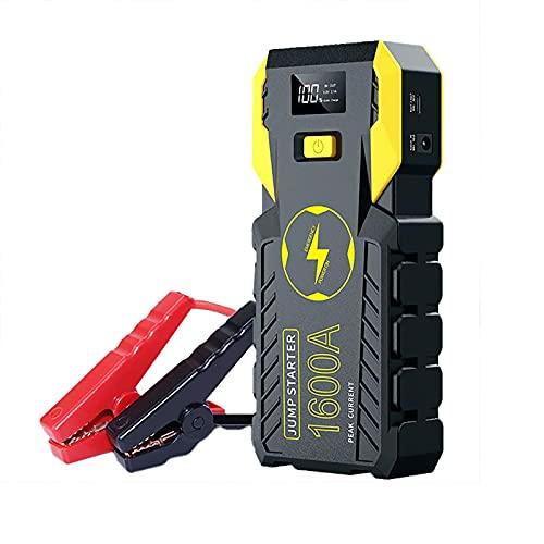 Car Jump Starter Emergency 1600A 32000mAh 12V Battery Booster Carpeta inteligente Portátil Herramienta eléctrica para exteriores 6.0L Gas 4.0L Motor diesel Linterna LED Cargador USB ( Color : B )