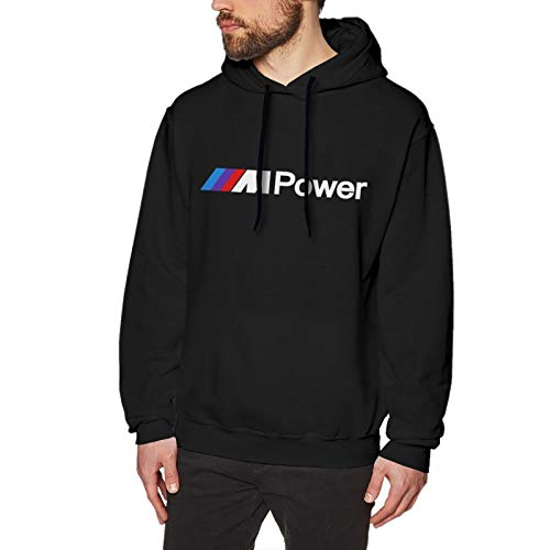 N / A B-M-W Power Men's Hoodie Sweatshirt Long-Sleeve Baumwolle Herren Hooded No Pocket Sweatshirt Kapuzenpullixl