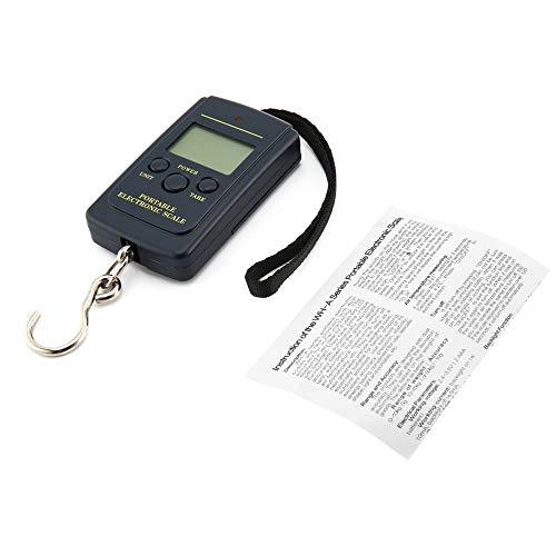 gfjfghfjfh Protable 40Kg Pockets Digitalwaage Elektronische Hängegepäckwaage Multi Used Balance Weight Steelyard Black