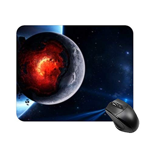 Yilooom Space Cataclysm Planet Art Explosion Asteroids Comets Fragments Rectangle Non Slip Rubber Mousepad Gaming Mouse Pad 9'x7'