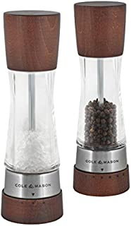 Cole & Mason Gourmet Precision Derwent Forest Salt and Pepper Mill Gift Set, Wood and Acrylic, 19 cm