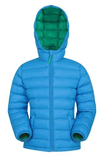 Mountain Warehouse Seasons Gepolsterte Jacke für Kinder, geeignet für alle Jahreszeiten - wasserdichte Winterjacke, leicht & warm Blau 7-8 Jahre