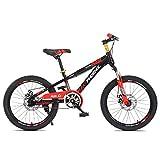 FUFU Bicicleta de montaña para niños 18/20 Pulgadas Sola Velocidad Masculina y Femenina Estudiante Bicicleta Bicicleta Bicicleta bifurcación Frontal absorción de Choque (Color : Red, Size : 18in)