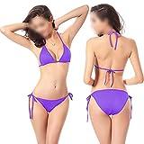 Swimwear 2pcs Sexy Mujeres Verano Bikini Set Bra Tie Side G-String Tanga Playa Triángulo Traje Traje de Baño Traje de Baño Traje de Baño