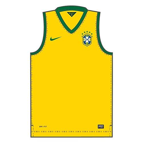 Nike 2014 Brasil CBF Stadium Débardeur Homme, Varsity Maize/Pine Green/Pine Green, FR (Taille Fabricant : XL)