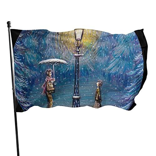 jhgfd7523 Narnia Magische Laterne, 90 x 150 cm, Heimdekoration, Gartenflagge für Innen- und Außenbereich