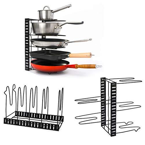 EYEPOWER Pfannen Organizer mit 5 Ablagen - Topfdeckel Aufbewahrung Küche - Topf Regal für Schublade