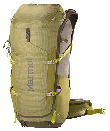 MARMOT Graviton 34 Lightweight Hiking Backpack, Citronelle/Olive