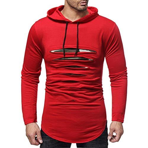 SuperSU Jeans Tops Herren Regular Fit Denim Cowboy-Style Männer Denim Long-Sleeve Langarmhemd Knopf Basic Solid Bluse T-Shirt Mode Sweatshirt Outwear Bluse Freizeithemd Langarm Pullover