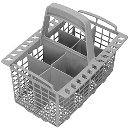 SPARES2GO Cesta para cubiertos y asa extraíble para lavavajillas Indesit (8 compartimentos)