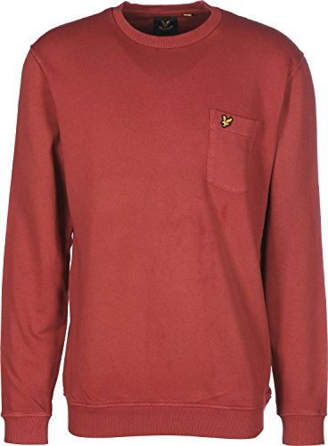 Lyle & Scott Garment Dye Sweatshirt Sudadera, Rojo (Granada), XL para Hombre