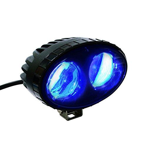 AOMAX 8W CREE Blue LED Forklift Light Safety Light Spot Light Warehouse Pedetrian Warning Light, 9V-60V LED Safety Light, 250LM