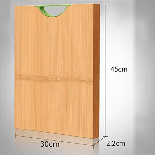 Tabla de Cortar, Tabla de Cortar de Madera Maciza para Cocina doméstica, Rectangular y fácil de Limpiar, 28 * 40 cm, 30 * 45 cm, 33 * 50 cm