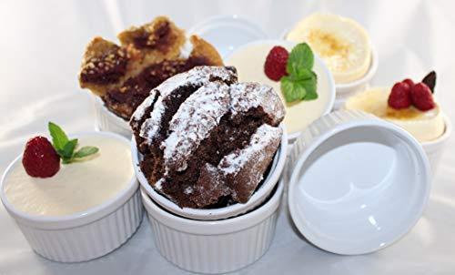 WAS 6 Stück Soufflé Souffle Förmchen Pastetenform Näpfchen -9cm- aus Porzellan