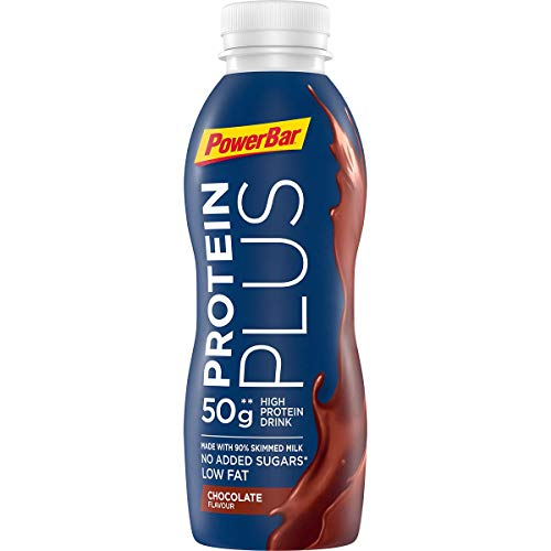 PowerBar Protein Plus High Protein Drink Chocolate 12x500ml - High Protein Low Sugar Sportmilch + Low Fat