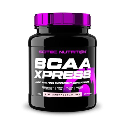 Scitec Nutrition BCAA Xpress, Poudre de boisson aux acides aminés essentiels BCAA, sans sucre, sans gluten et sans lactose, 700 g, Pink limonade