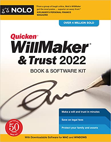 Quicken Willmaker & Trust 2022: Book & Software Kit