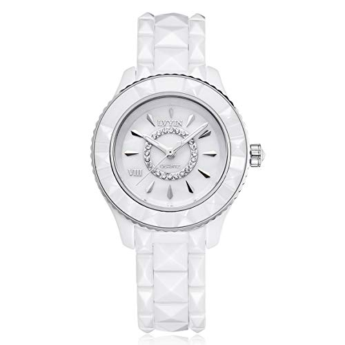 Lvyin Keramikuhr Wasserdicht Lässig Paaruhr Weibliche Modelle Uhren Handgelenk Einfache Präzisionsuhren Geschenk Geschenk - Silber