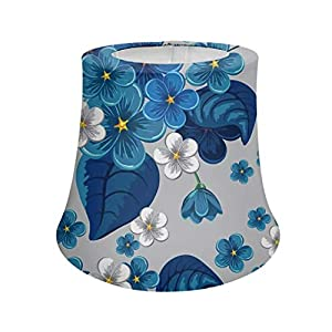 Advocator Frangipani Hawaiian Foam Artificial Plumeria Flower Lampshade for Kids Girls Room,Lamp Shade Floor Lampshade Table Polyester Fabric Lampshades Fashion Replacement Lamp Shade