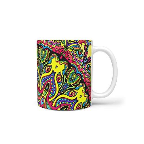 Lind88 Drinks Koffie Mok Cup met Handvat Keramische Glanzende Bekers - Meisje, voor Restaurant gebruik (11 OZ)