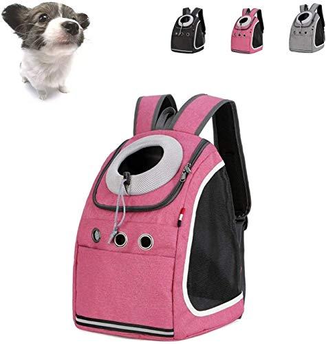 Trasportino gatto Zaino Cane, pieghevole Zaino Pet Carrier, mesh traspirante stile confortevole gatto del cane di Pet Carrier viaggio zaino portante anteriore del sacchetto SLZFLSSHPK ( Size : Pink )