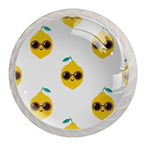 KAMEARI Juego de 4 pomos redondos para gabinete con gafas de sol