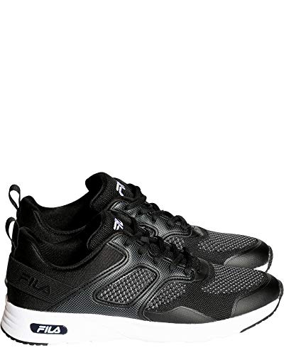 Fila Womens Memory Frame V6 Sneaker - Black White,Black White,11