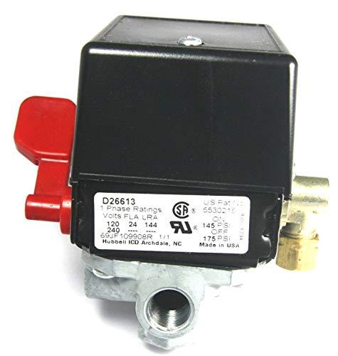 New Air Tool Parts 5140117-71 Air Compressor Pressure Switch D26613 175/145 Craftsman Devilbiss