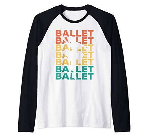 Retro Ballett Geschenk für Ballerinas & Balletttänzer Raglan