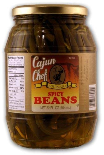 Cajun Chef Louisiana Spicy Green Beans of Glass Jar 2 Pack 32oz Super beauty product restock quality top San Antonio Mall
