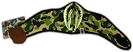 A Bathing Ape Bape Green Camouflage Glow in The Dark Shark Jaw Military Neoprene Ski Paintball Face Mask Camping