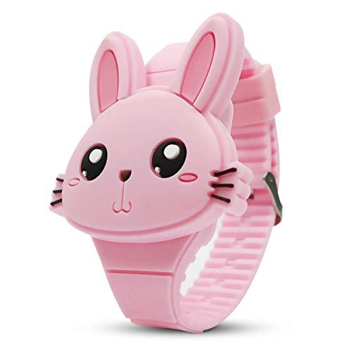 Busaky Kids Cute Digital Watch ,Cute Rabbit Shape Girl Watch LED Fashion...