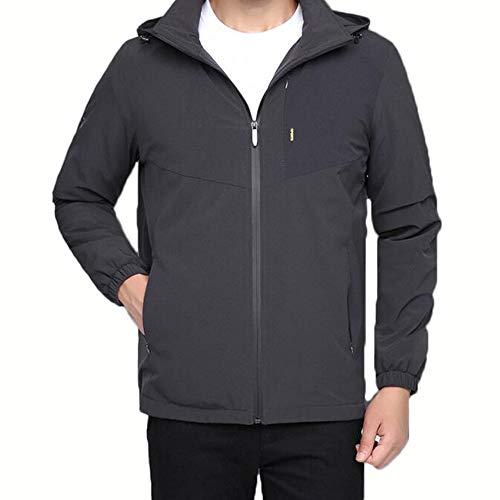 ZWHDS herenjack, herfst- en wintermode, casual, grote afneembare hoed, dunne wollen mantel, slanke gebreide jas, ritssluiting, meervoudige warmte-jas, buitencapuchon, winddicht, waterdicht