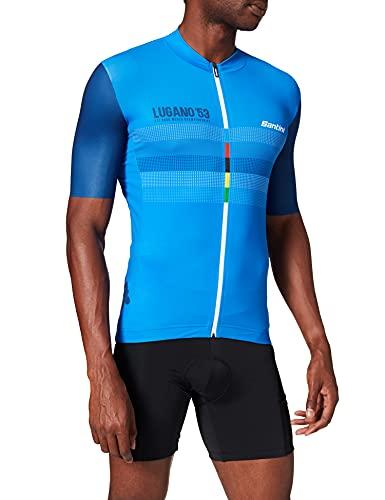 Santini UCI La Dama Bianca, Maglia Manica Corta Uomo, Multicolore, XL