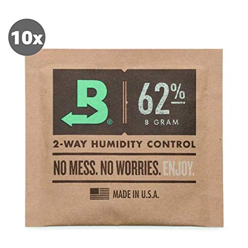 Boveda 10 x Humidipak 62% 2-Way Humidifer 8g