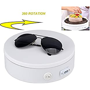 Yuanj Professional 360 Degree Electric Rotating Turntable for Photography, 25KG Capacity. Automatic Revolving Platform perfect for 360 Degree Images, Product Display or Cake Display