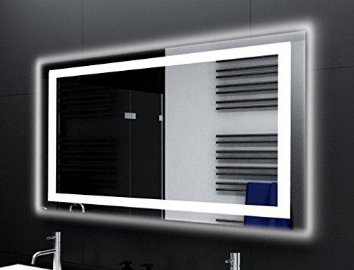 Badspiegel Designo MA4113 mit A++ LED Beleuchtung - (B) 160 cm x (H) 70 cm - Made in Germany - Technik 2019 Badezimmerspiegel Wandspiegel Lichtspiegel TIEFPREIS rundherum beleuchtet Bad Licht Spiegel